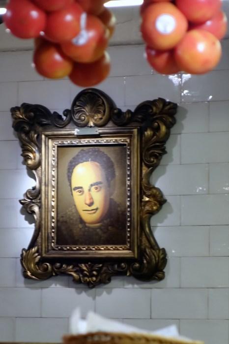 Bodega 1900, Ferran Adrià lächelt von der Wand