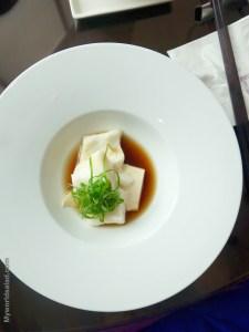 Kabeljau in Dashi mit Algen, Restaurant Yen, Taipei