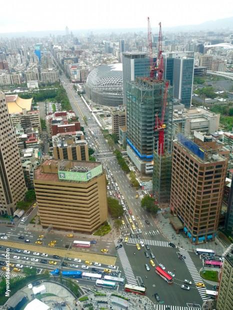 Taipei , Ausblick aus dem Hotel W