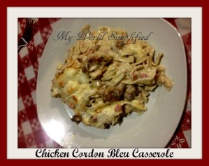 Chicken Cordon Bleu Casserole #tbtRecipe