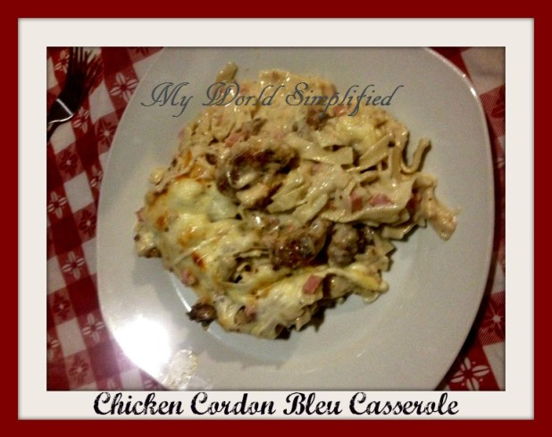 chicken-cordon-bleu casserole