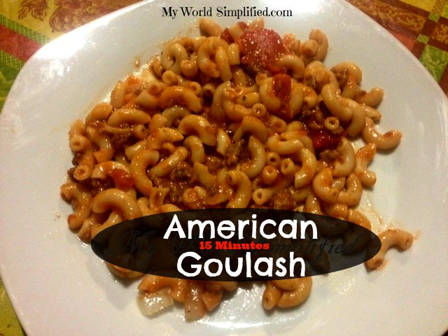 15 minute goulash
