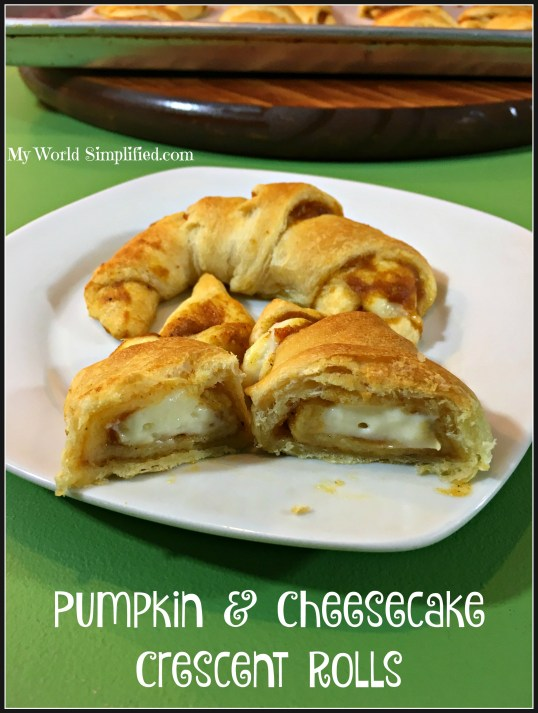 PUMPKIN AND CHEESECAKE CRESCENT ROLLS