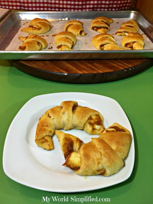 Pumpkin Cheesecake Crescents rolls