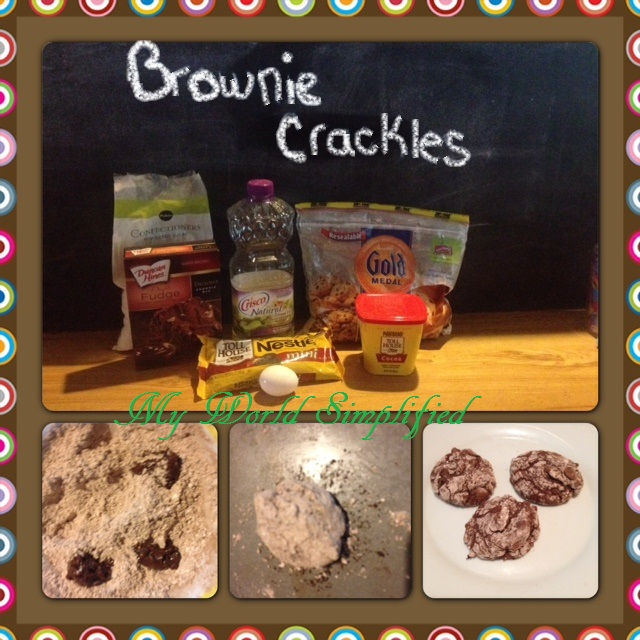 Brownie Crackle Collage