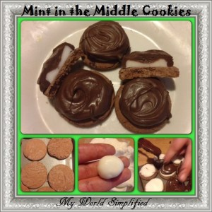 Mint in the Middle Cookies