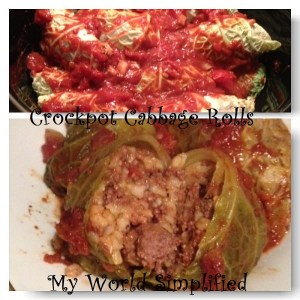 Crockpot Cabbage Rolls #Sunday Supper