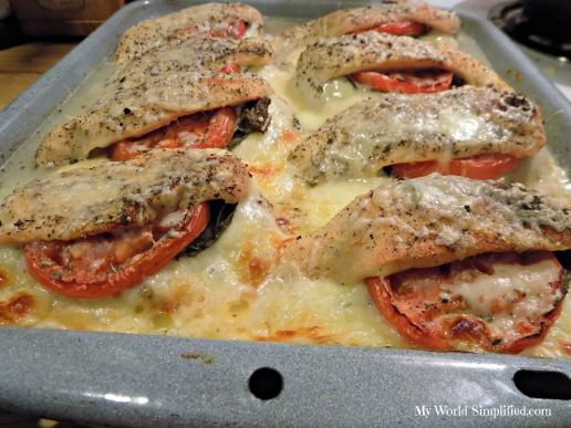 Italian Stuffed chicken cooked