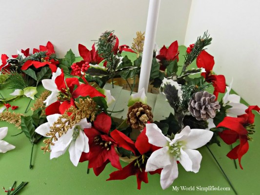 Poinsettia Winter Decoration