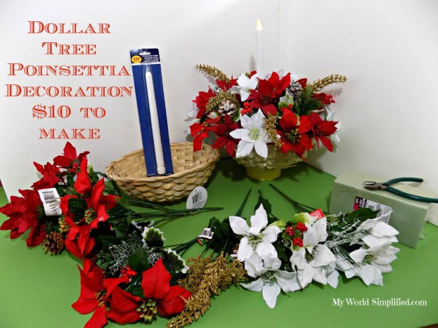 Poinsettia dollar tree decoration