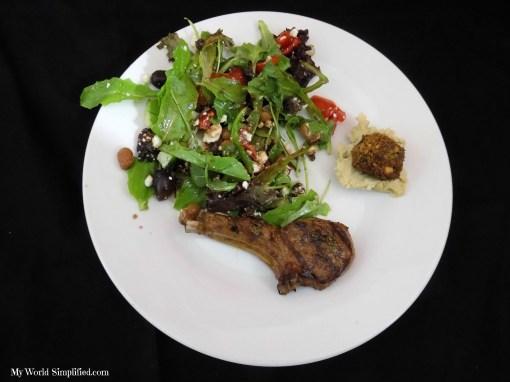 Mediterranean Cobb Salad with Pomegranate Vinaigrette