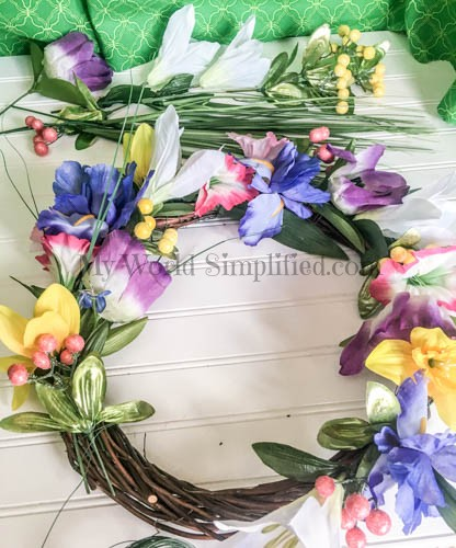 Dollar Tree Spring Wreath-6