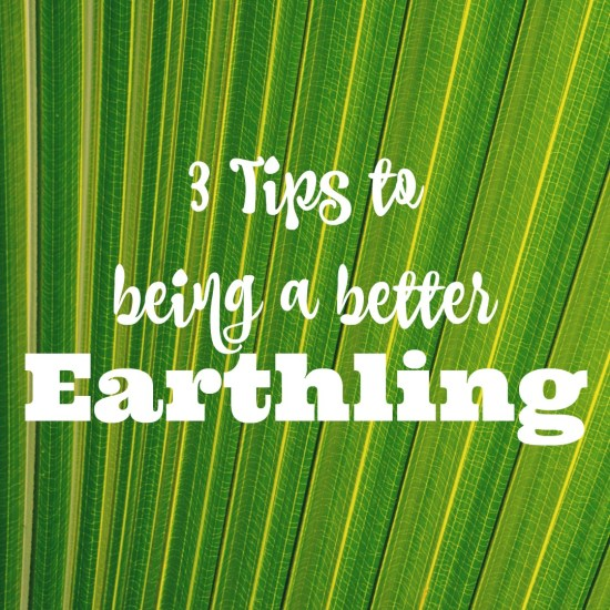 3 tips to being a better Earthling #TossTheTube