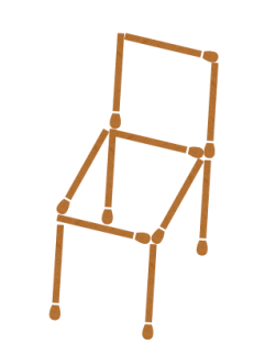 Matchstick Puzzle with answer - changing direction of chair