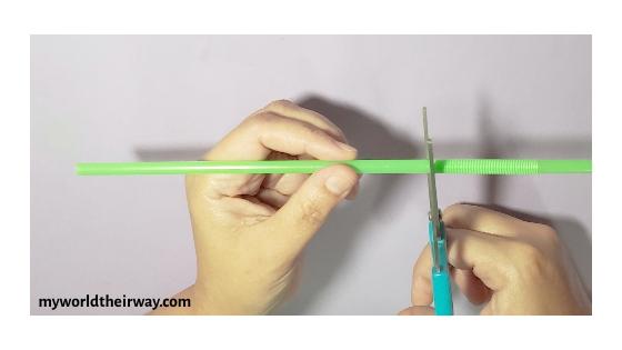cut the bendy straw