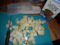 choco chip muffin, leekpotato soup 014