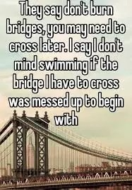 FOOD FOR THOUGHT - BURN THE BRIDGES 5