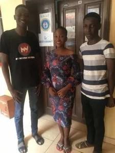 Johnson Okunade, Faith Waziri and Oladele Tobi