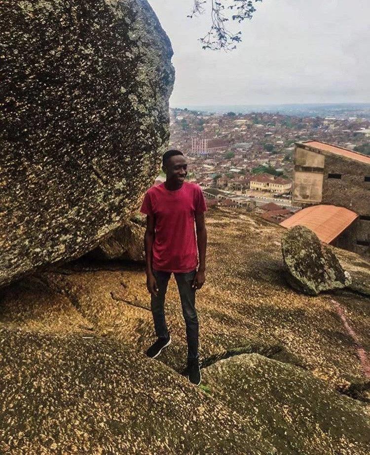 Standing on Olumo rock