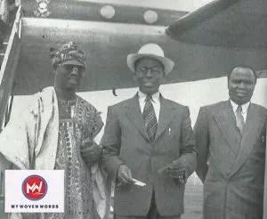 Bode Thomas, Obafemi Awolowo and Ladoke Akintola