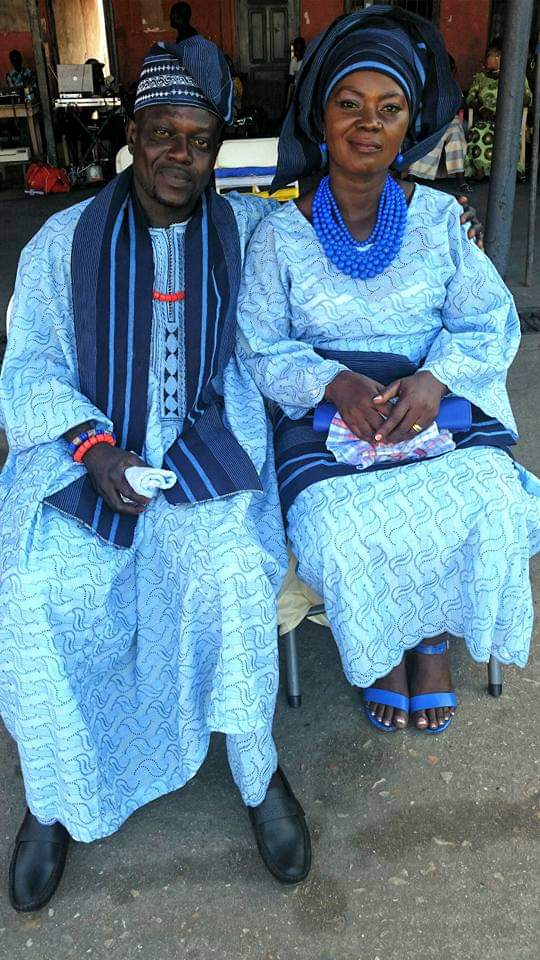 Evang Dele Paimo with his wife, Mrs. Grace Paimo