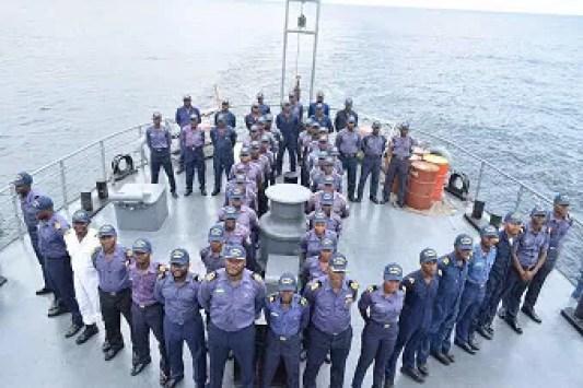 uniformed Nigerian Navy