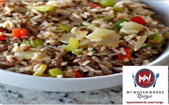 dirty rice - woven recipe