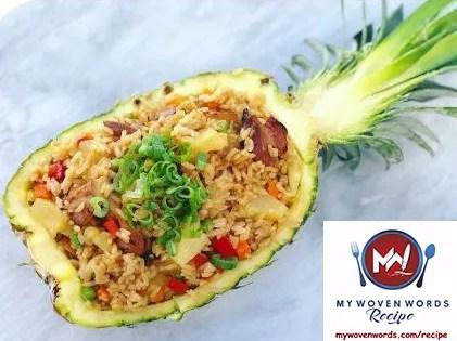 fried pineapple rice