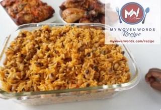 jollof rice and beans