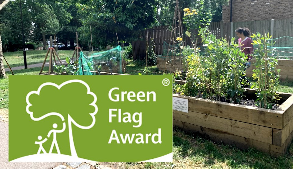 Wray Crescent park has won a Green Flag Award
