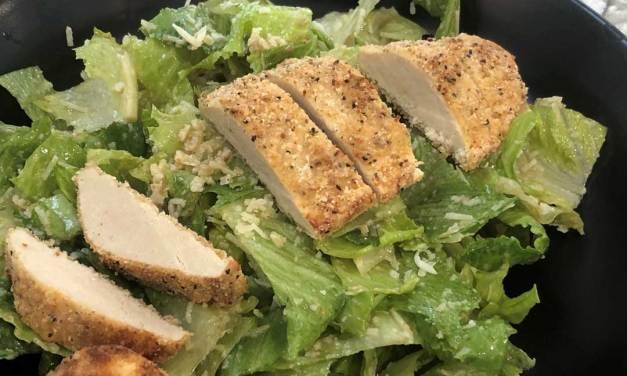 Vegetarian Chicken Caesar Salad