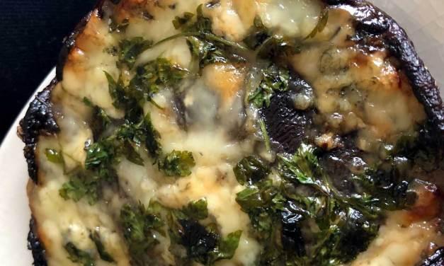 Portobello Mushrooms with Gorgonzola Cheese