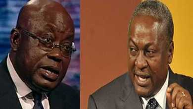 Photo of Akufo-Addo's governance very bad, he's only best at speaking slangs – Mahama