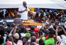 Photo of Mahama storms Ashanti Region today on a 6-day tour