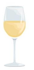 כוס יין לבן קל