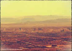 And a zoomed in image of the Strip. Had to play with colour a bit to get some clarity. Very hazy.