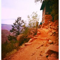 bright angel trail: grand canyon rim to river