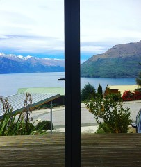 View from bedroom in Queenstown
