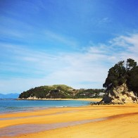 The beach at Abel Tasman National Park.