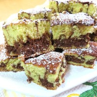 Chocolate and Pistachio Swirl Cake
