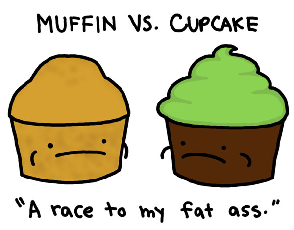 Muffin Vs. Cupcake By Natalie Dee