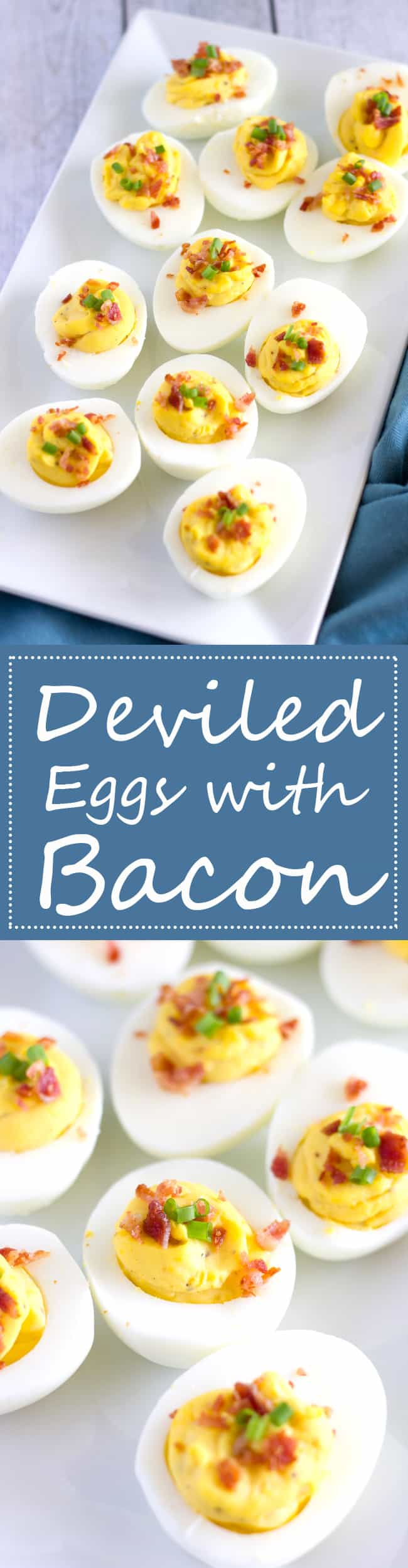 This recipe for Classic Deviled Eggs are made even better with crumbled bacon. Perfect for Easter Brunch!