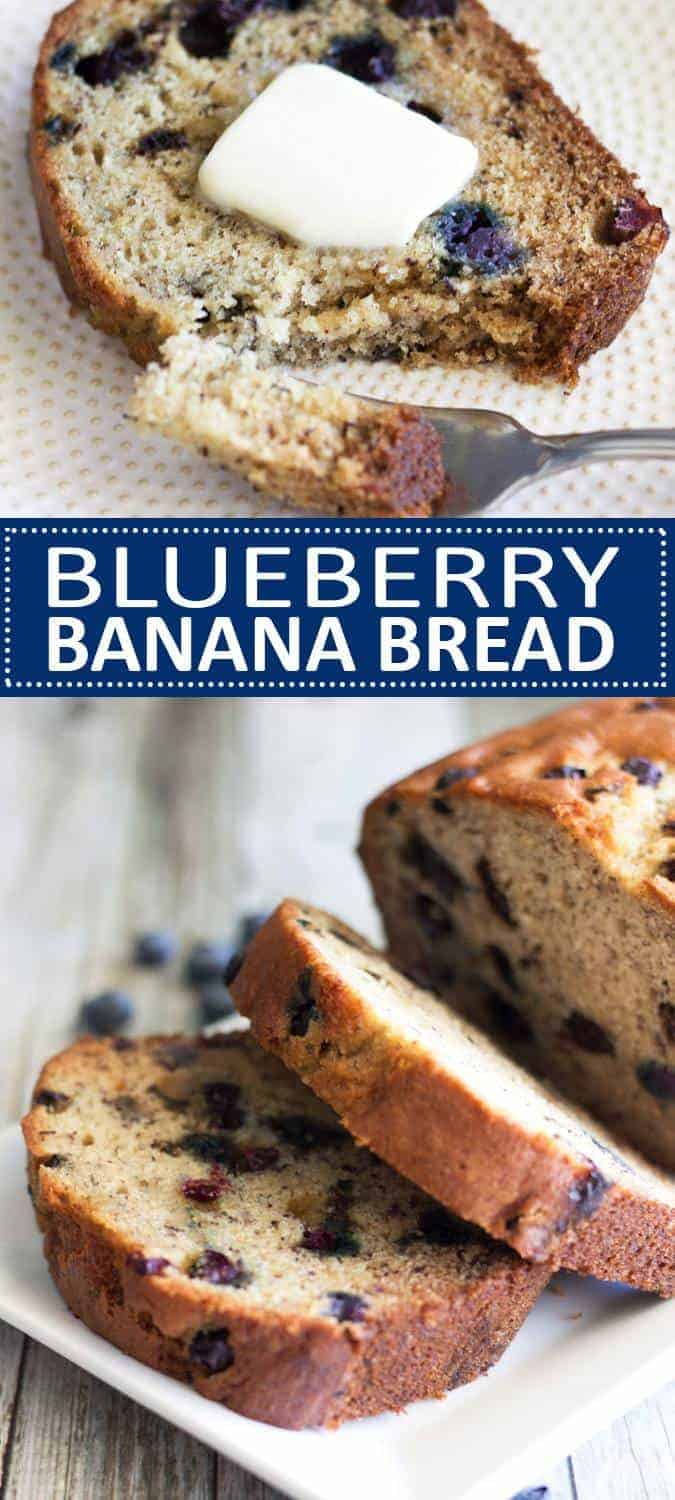 This Blueberry Banana Bread is so moist, delicious and simple to make!