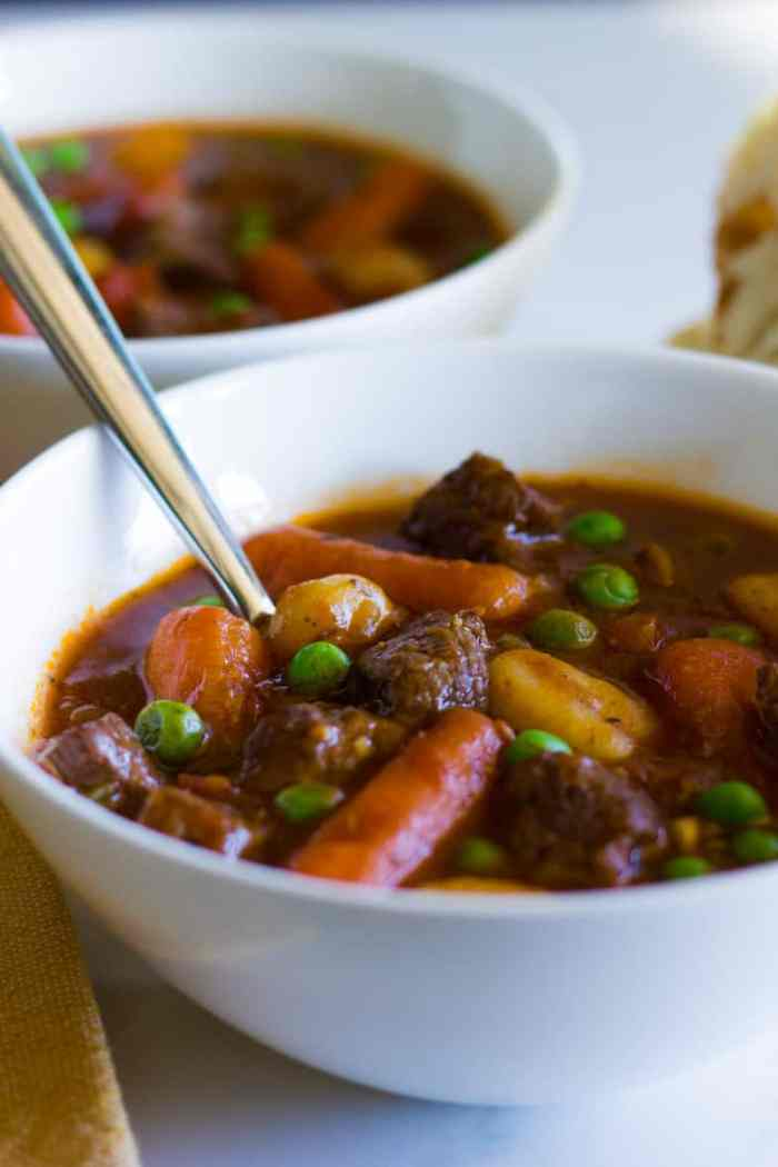 Instant Pot Beef Stew is a deliciously rich and hearty meal with tender beef and veggies swimming in a thick gravy sauce