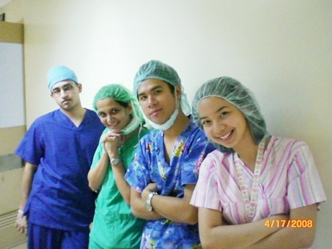 Sharda Bapat - during her medical course in Philippines