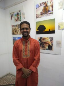 Rohan in his India 365 exhibition