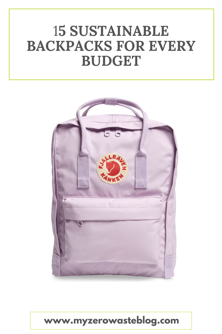15 Sustainable Backpacks For Every Budget
