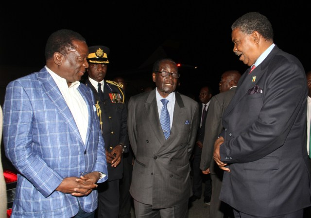 Mugabe and Mnangagwa