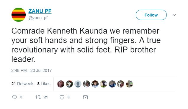 Kenneth Kaunda Dies