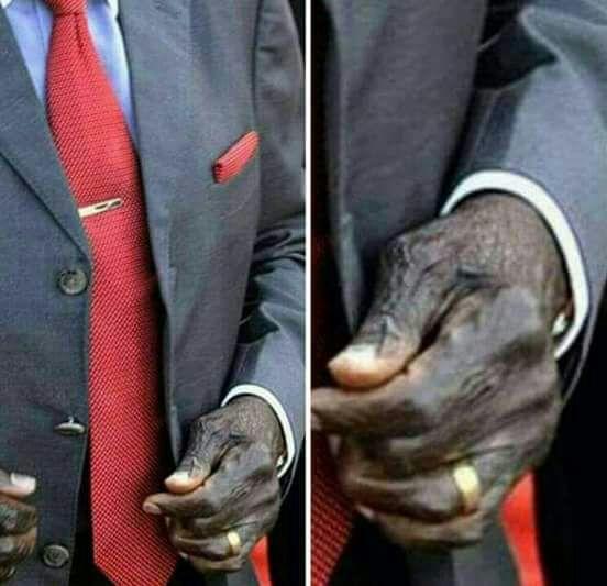 President Mugabe sleeping at meeting